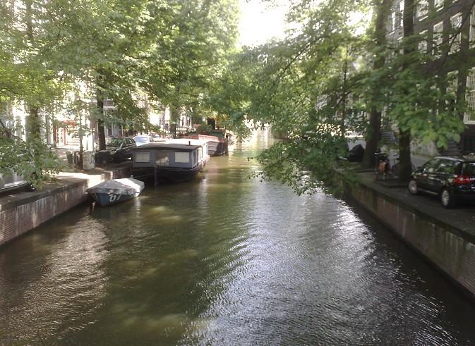 Canal et bateaux, Amsterdam