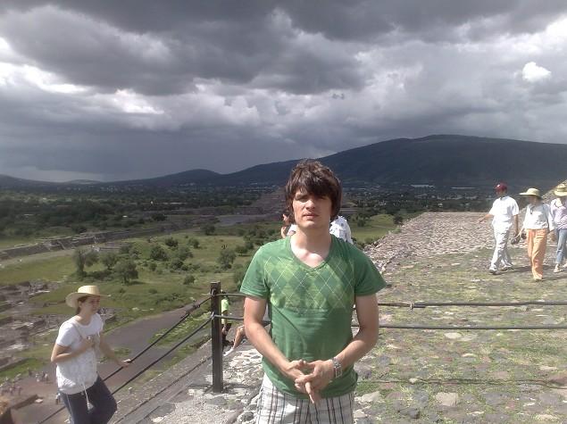 Martin à Téotihuacan, au Mexique