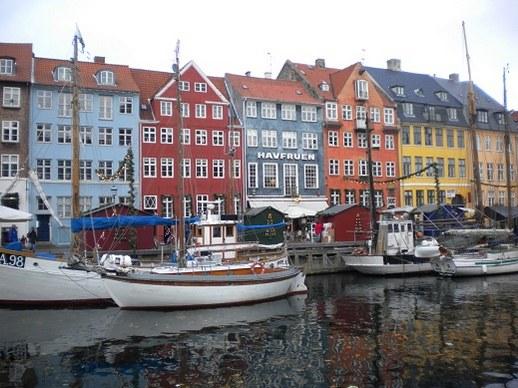 Bateaux et maisons traditionnelles, Nyhavn, Copenhague