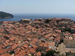 Toits de dubrovnil, Croatie