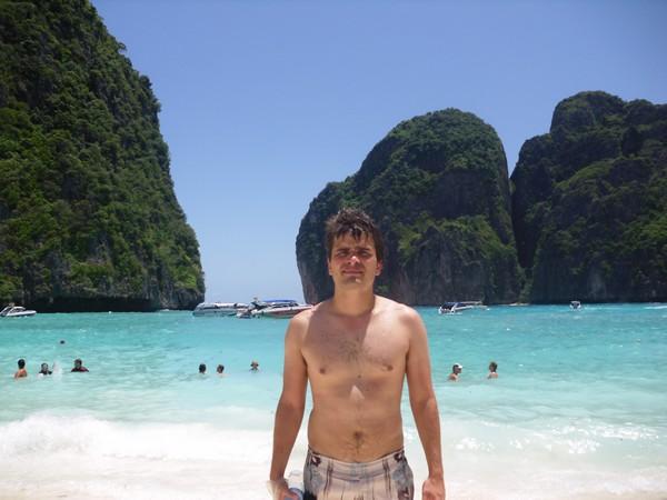 Moi à Ko Phi Phi la plage